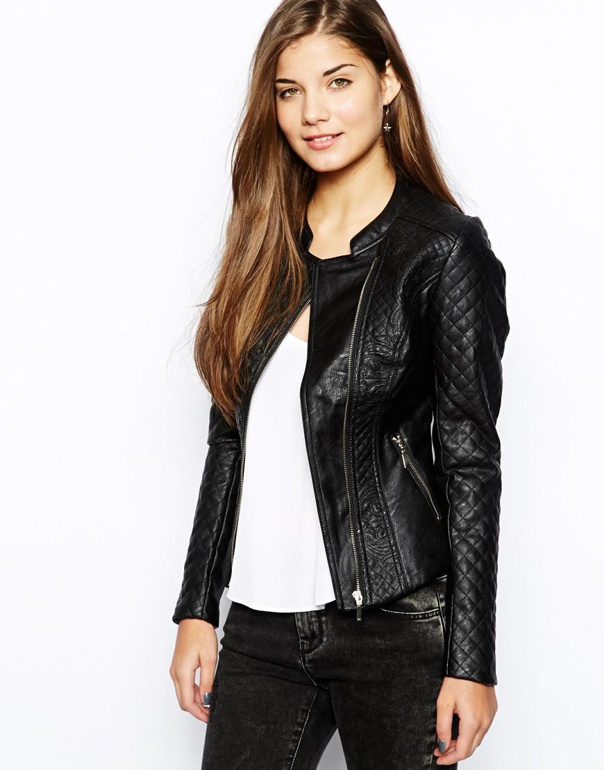 Veste femme aspect cuir