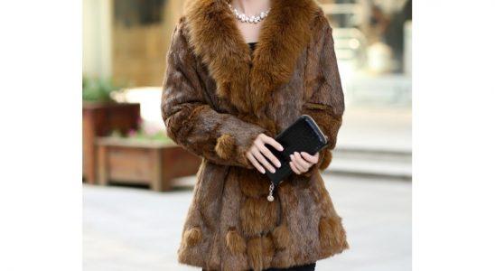 fourrure manteau femme
