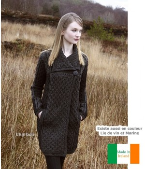 manteau 100 laine femme