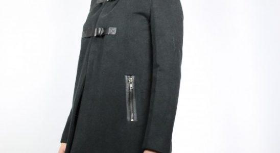 manteau avec col fourrure femme