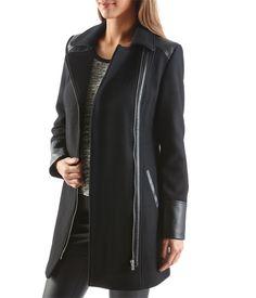 manteau biker femme