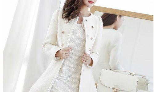 manteau blanc femme