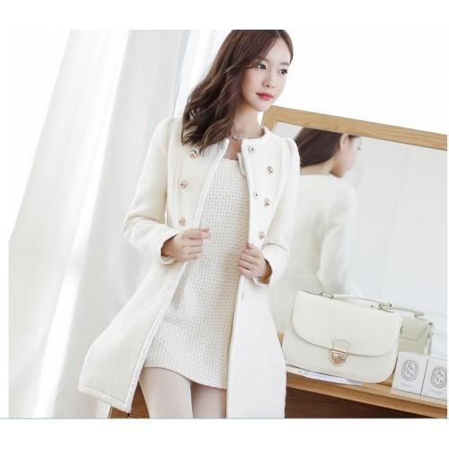 manteau blanc court femme