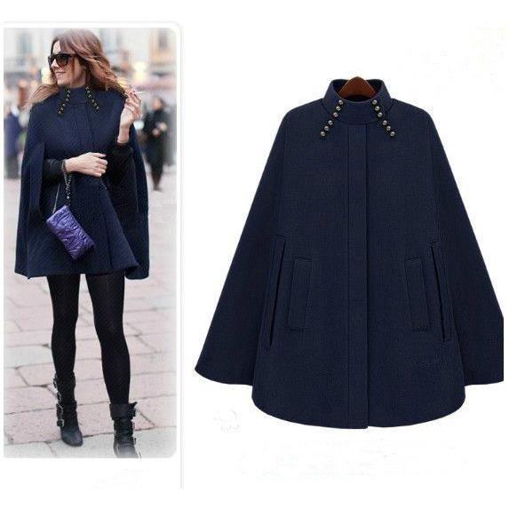 manteau cape longue femme