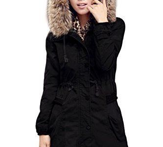 manteau capuche femme pas cher