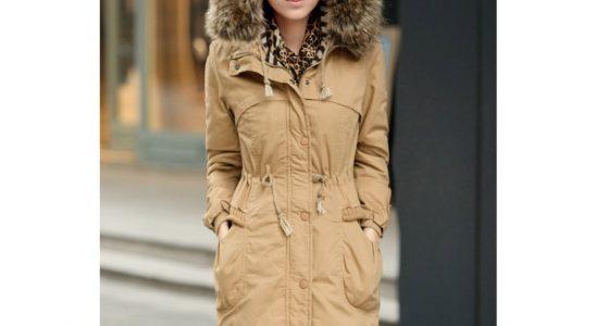 manteau capuche fourrure femme