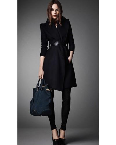 Manteau ceinture femme