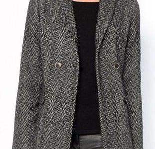 manteau chevron femme