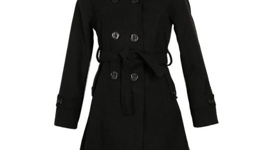 manteau col capuche femme