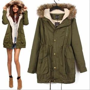manteau col fourrure femme