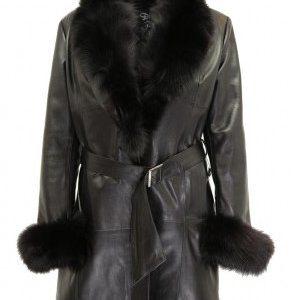 manteau cuir femme agneau