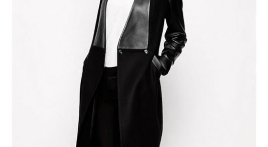 manteau cuir femme long