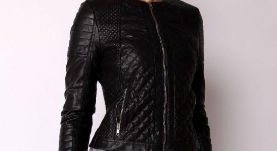 manteau cuir femme pas cher