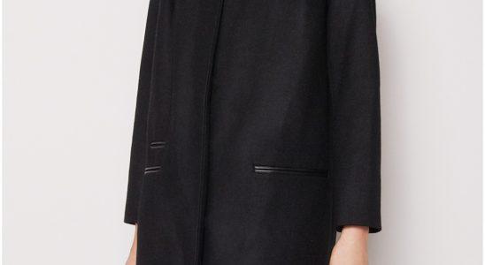 manteau droit femme laine