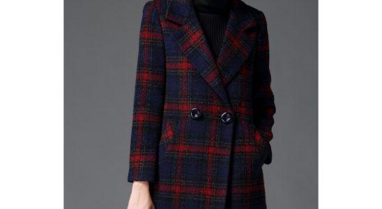 manteau ecossais femme