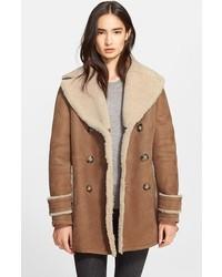 manteau en peau de mouton retourné femme