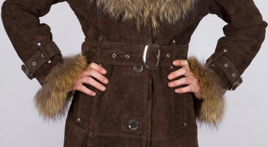 manteau en peau femme