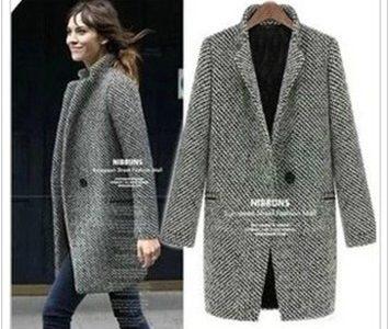 manteau en tweed femme