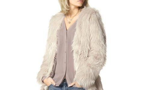 manteau fausse fourrure femme