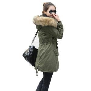 manteau femme avec fourrure capuche