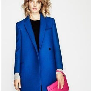 manteau femme bleu electrique