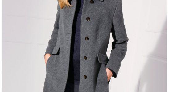 manteau femme bleu marine