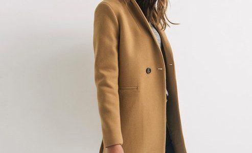 manteau femme camel