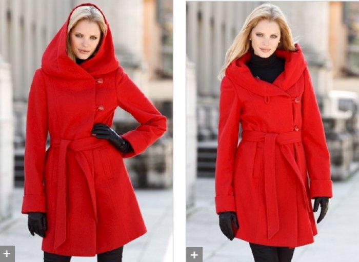manteau femme capuche large