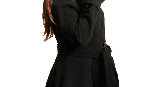 manteau femme cintré évasé