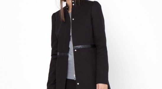 manteau femme cintré noir