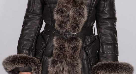 manteau femme cuir et fourrure