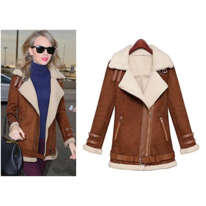 manteau femme daim