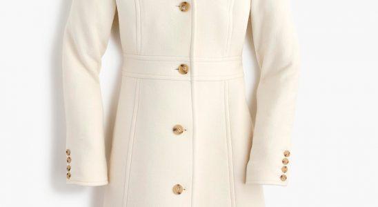 manteau femme ecru