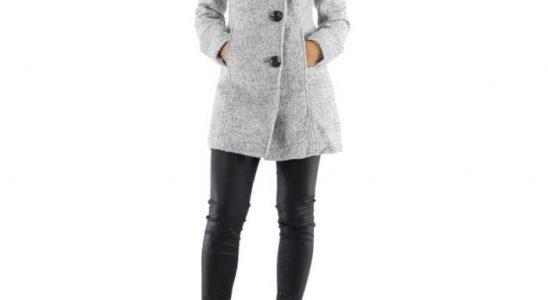 manteau femme en laine bouillie