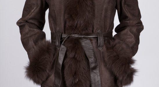 manteau femme fourrure lapin