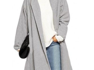 manteau femme gris