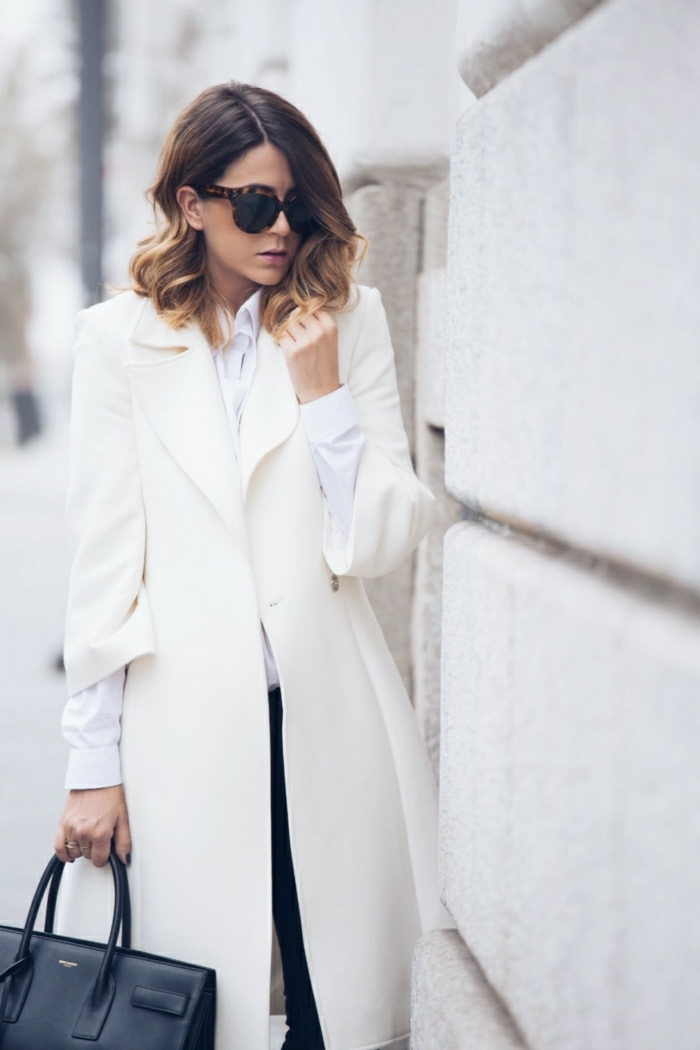 manteau femme hiver blanc
