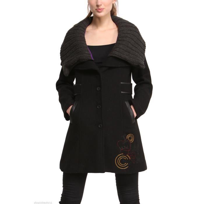 manteau femme hiver desigual. Black Bedroom Furniture Sets. Home Design Ideas