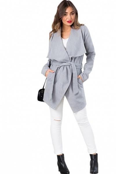 manteau femme hiver gris