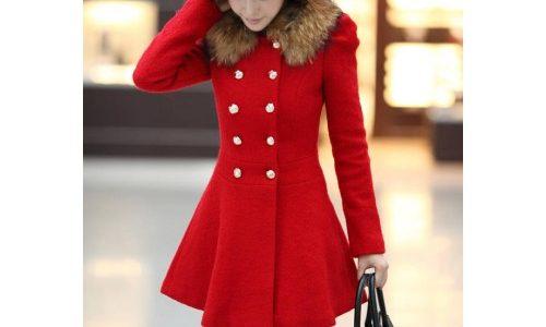 manteau femme hiver rouge