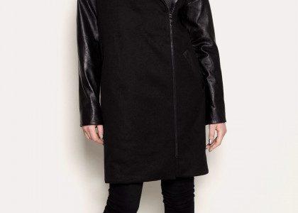 manteau femme laine noir