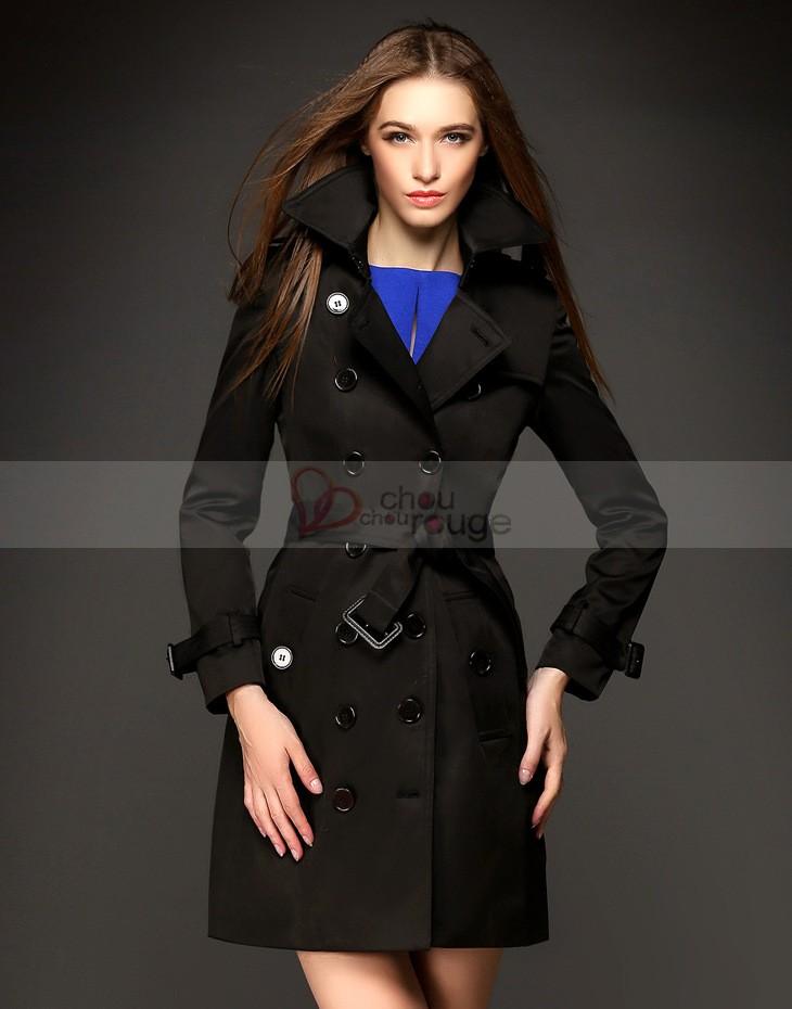 manteau femme noir chic. Black Bedroom Furniture Sets. Home Design Ideas