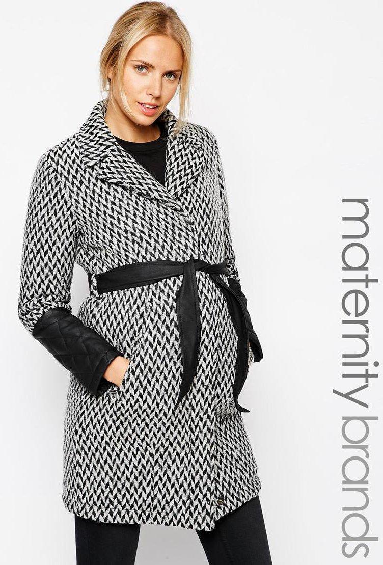 manteau femme noir et blanc