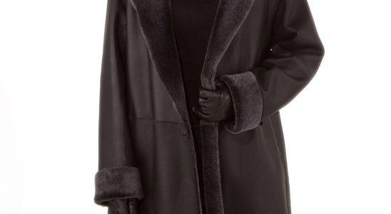 manteau femme peau