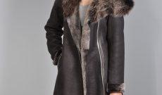 manteau femme peau retourn e. Black Bedroom Furniture Sets. Home Design Ideas