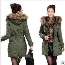 manteau femme vert kaki
