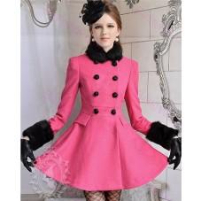 manteau fushia femme