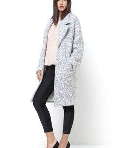 manteau gris femme