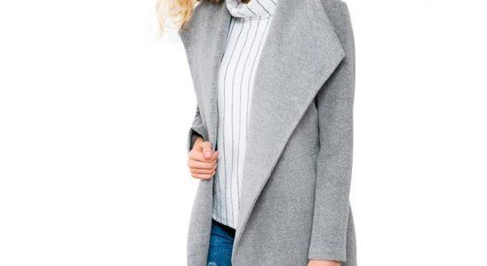 manteau gris femme hiver