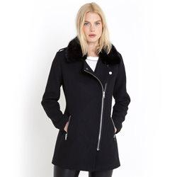 manteau hiver noir femme